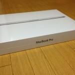 MacBook Pro Retinaディスプレイを入手しました