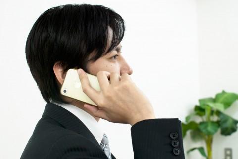 ビジネスマンスマートフォン